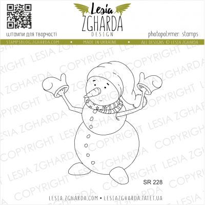 Tampons transparent Lesia Zgharda - Funny Snowman
