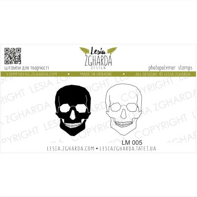 Tampons transparent Lesia Zgharda - Skulls
