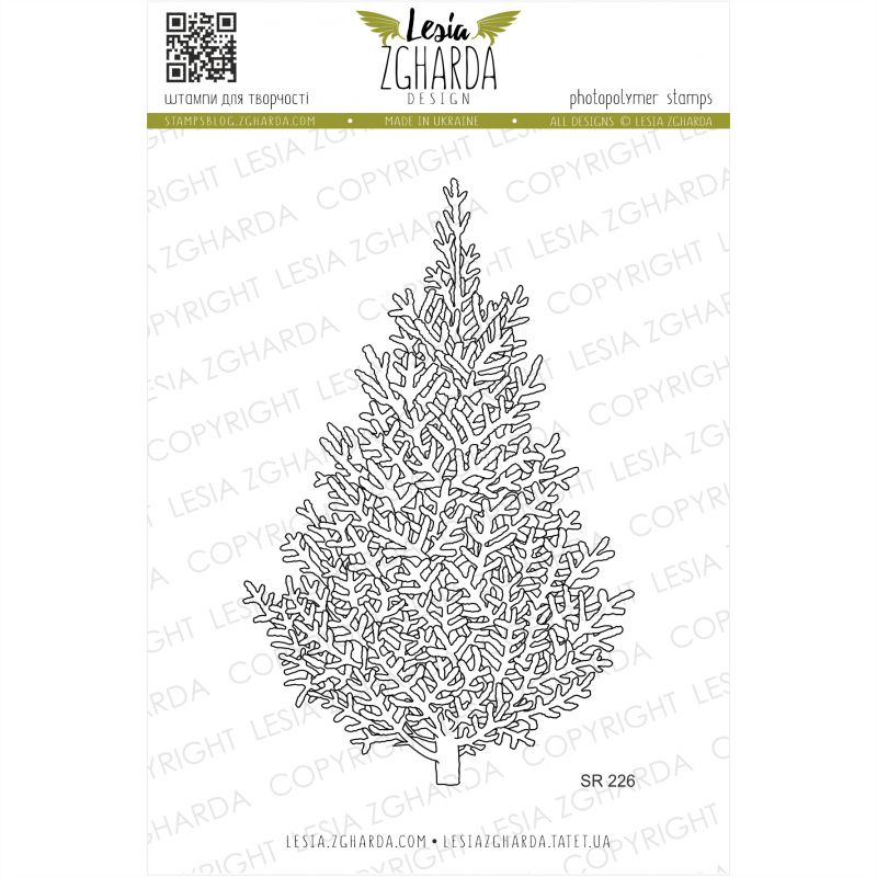 Tampons transparent Lesia Zgharda - Christmas Tree