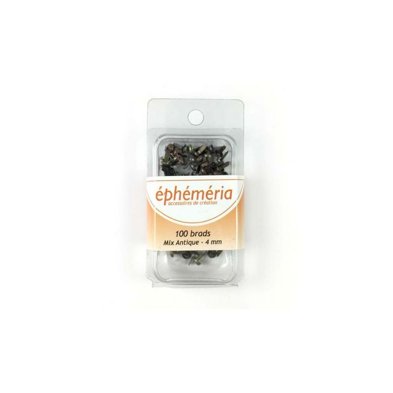 Brads Ephemeria 4 mm - Mix Antique (50)