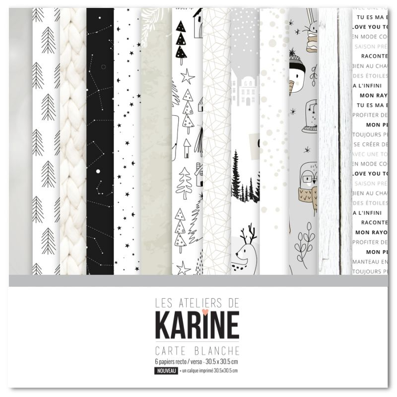 Pack 30x30 - Les Ateliers de Karine - Carte Blanche