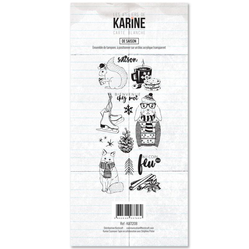 Tampons transparents Les Ateliers de Karine - De Saison