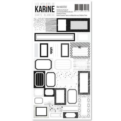 Stickers étiquettes Carte Blanche