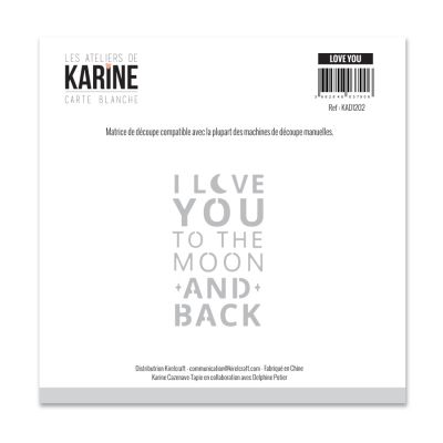 Die Les Ateliers de Karine - Collection Carte Blanche - Love You