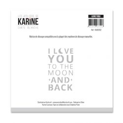 Die Les Ateliers de Karine - Collection Carte Blanche - Love You