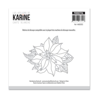 Die Les Ateliers de Karine - Collection Carte Blanche - Poinsettia
