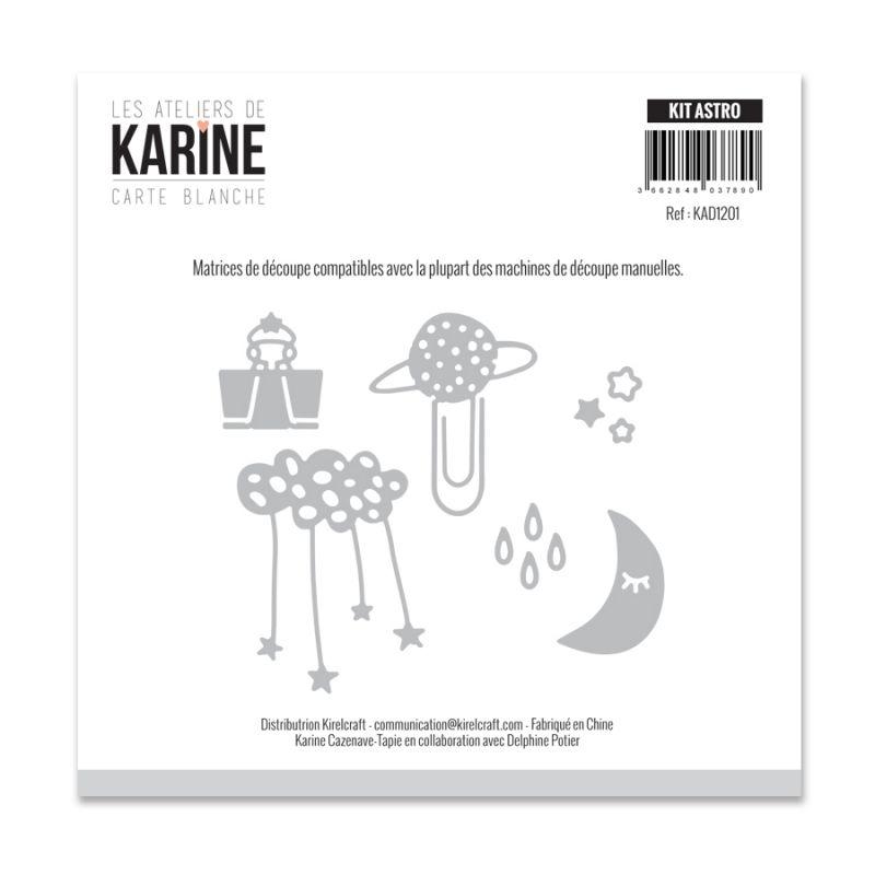 Die Les Ateliers de Karine - Collection Carte Blanche - Kit Astro