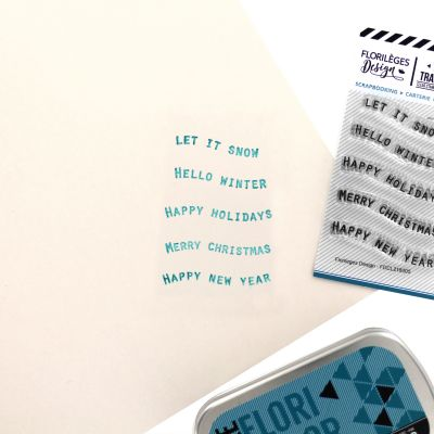Tampons transparents Florilèges - The Story of Us - Petits Mots Bannières 2