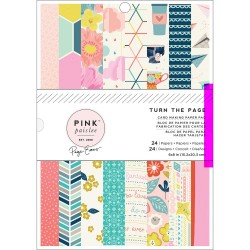 Pack de papiers 15x20cm - Pink Paislee - Turn the Page