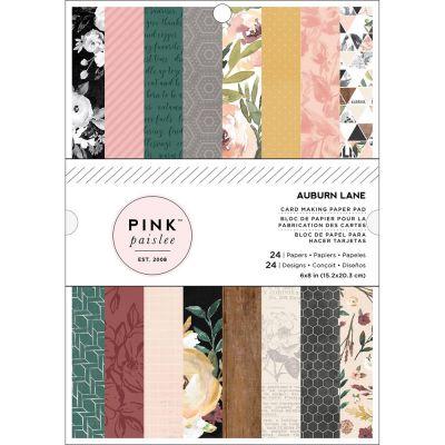 Pack de papiers 15x20cm - Pink Paislee - Auburn Lane