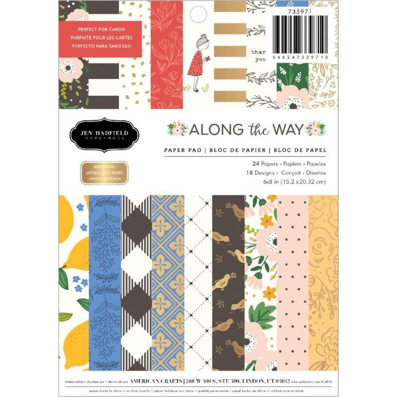 Pack de papiers 15x20cm - Jen Hadfield - Along the way