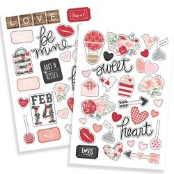 Stickers Simple Stories - Puffy - Kissing Booth