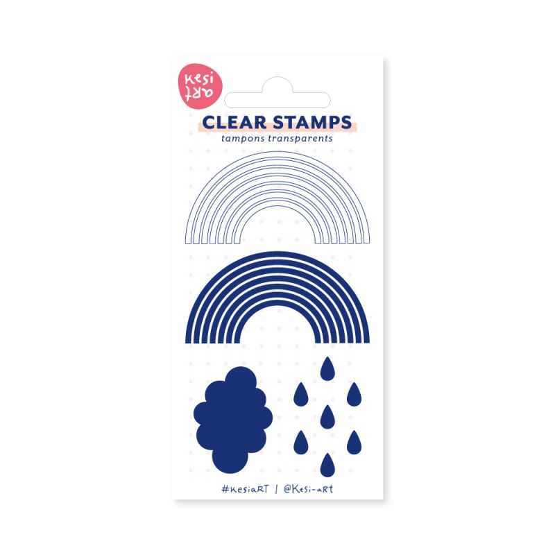 Tampons clear KesiArt - Rainbow