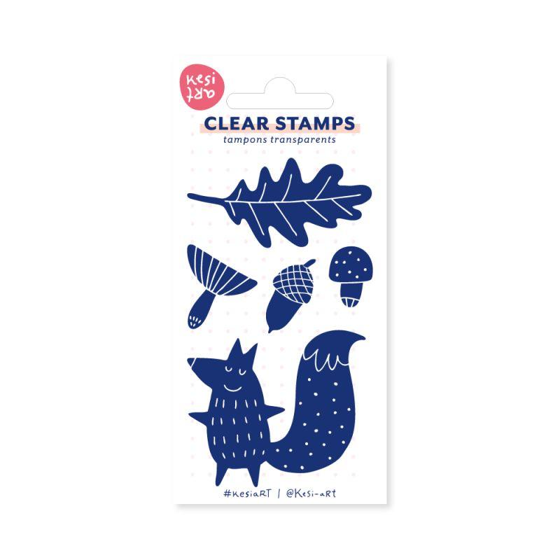 Tampons clear KesiArt - Renard