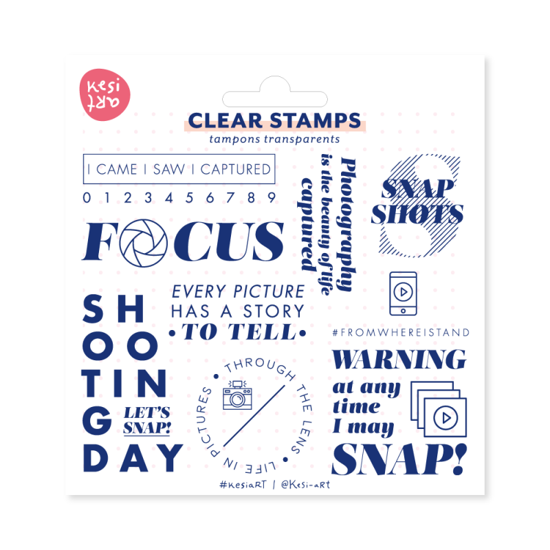 Tampons clear KesiArt - Let's Snap
