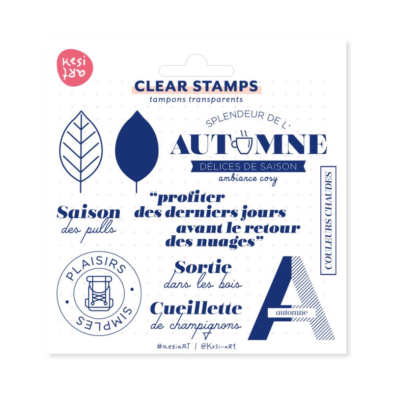 Tampons clear KesiArt - Saison des pulls