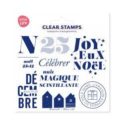 Tampons clear KesiArt - Joyeux Noël