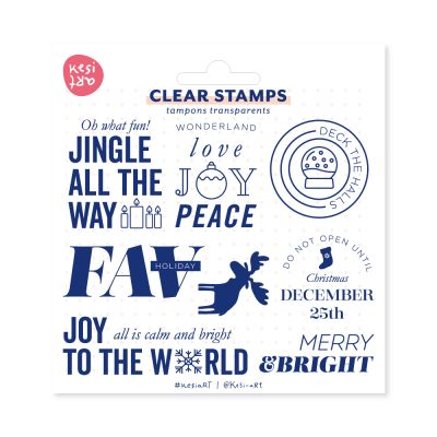 Tampons clear KesiArt - Merry & Bright