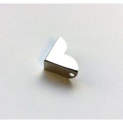Coin métal argenté avec rebord 21 mm (à l'unité)