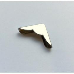 Coin métal argenté avec découpe 22 mm (à l'unité)