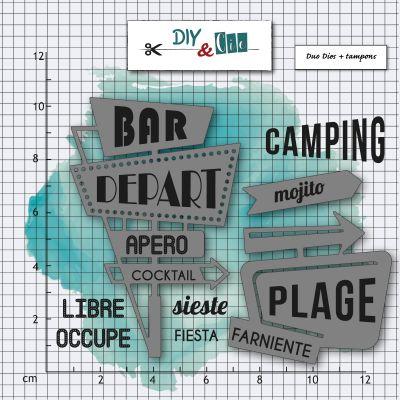 Dies & Tampons DIY&Cie - Col.15 - Panneau de motel