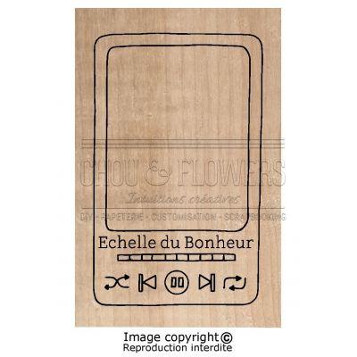 Tampon bois Chou & Flowers - Signature To Do List - Échelle du bonheur