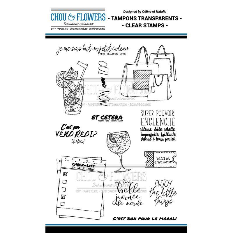 Tampons transparents Chou & Flowers - Signature To Do List - Billet d'humeur 2