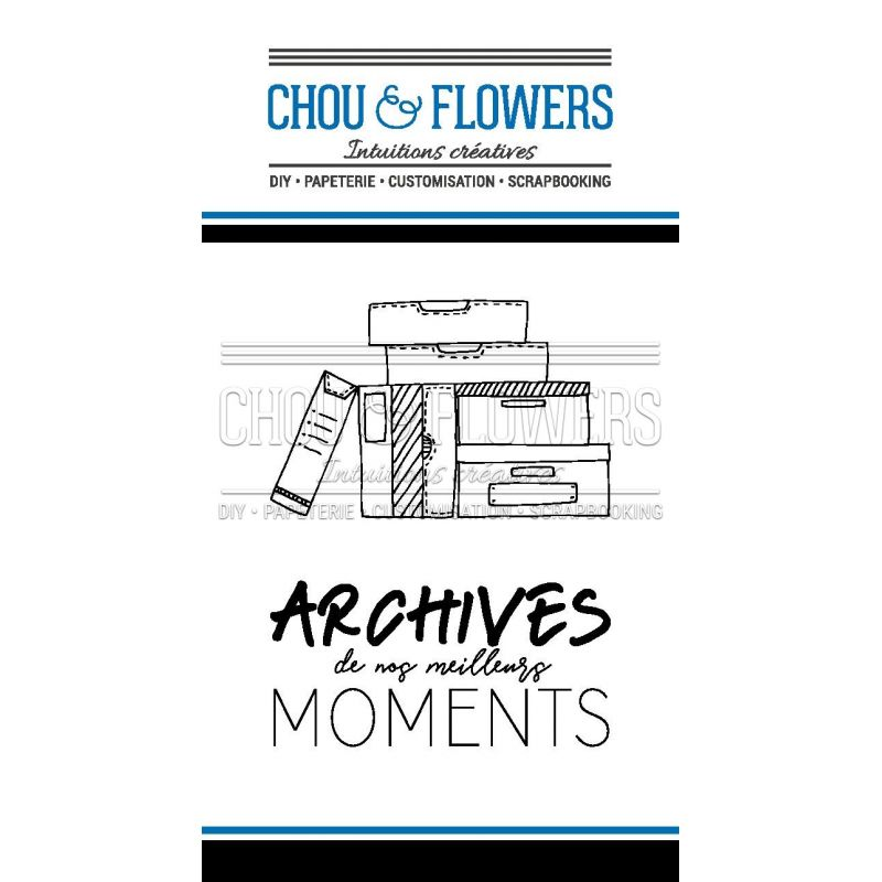 Tampons transparents Chou & Flowers - Signature To Do List - Archives