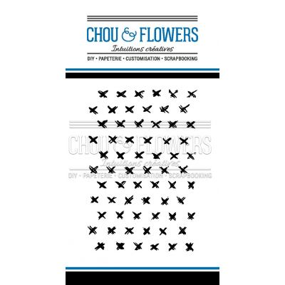 Tampons transparents Chou & Flowers - Signature To Do List - Les croix