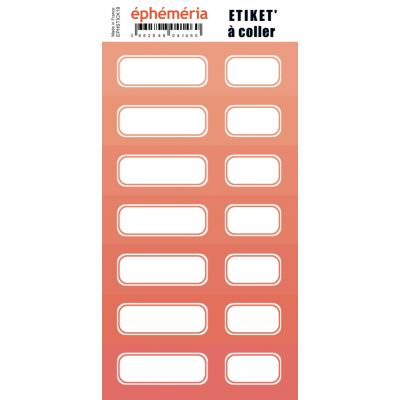 Stickers Ephemeria - 7 nuances de corail intense