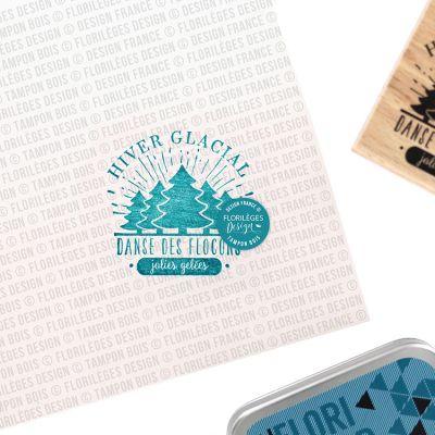 Tampon bois Florilèges - Capsules 2019 - Hiver glacial