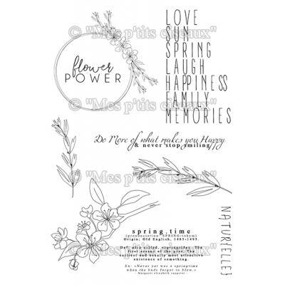 Tampons Mes p'tits ciseaux - Flower Power