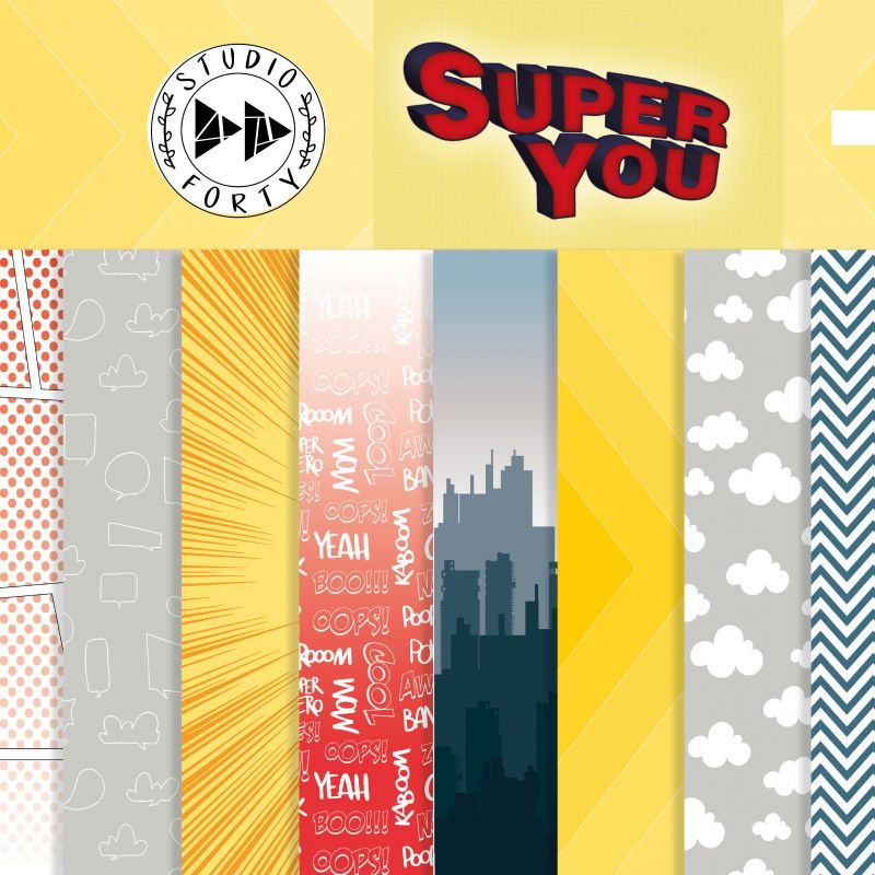 Pack 30x30 cm - Studio Forty - Super You