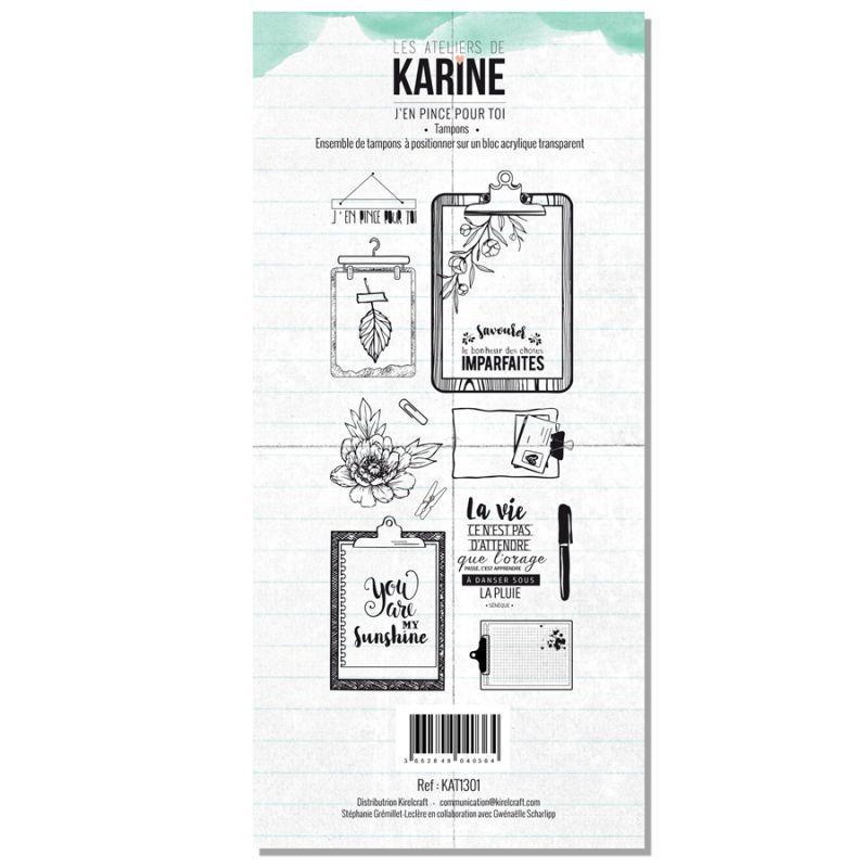 Tampons transparents Les Ateliers de Karine - J'en pince pour toi