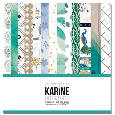 Pack 30x30 - Les Ateliers de Karine - Green & Graphik