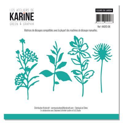 Die Les Ateliers de Karine - Collection Green & Graphik - Fleurs du jardin