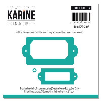 Dies Les Ateliers de Karine - Collection Green & Graphik - Porte étiquettes