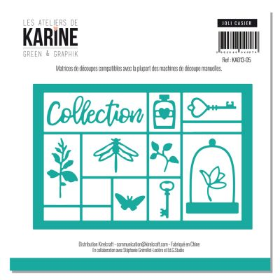 Dies Les Ateliers de Karine - Collection Green & Graphik - Joli Casier