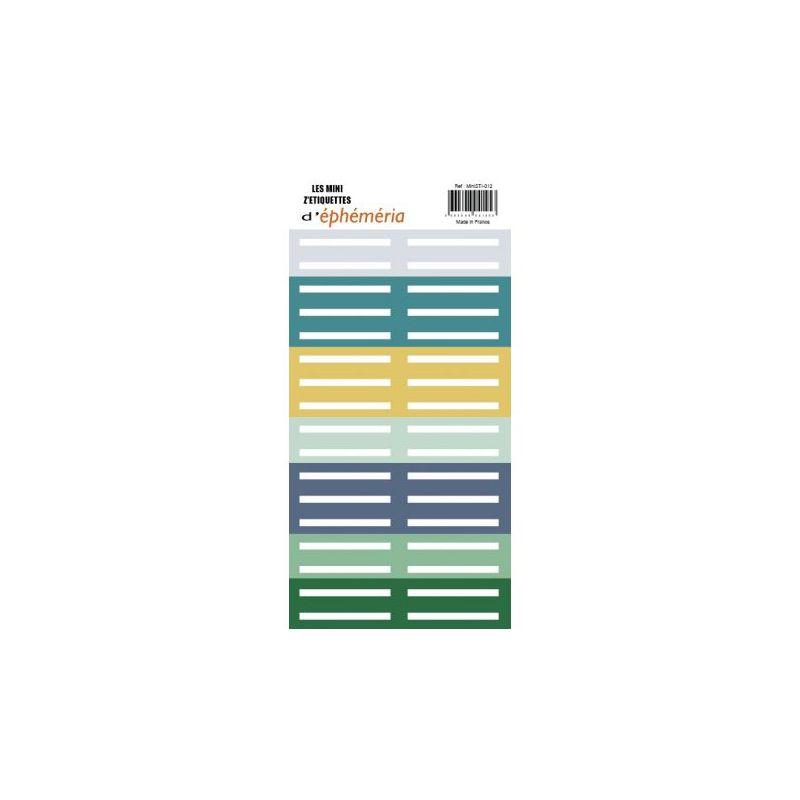 Les Mini Z'étiquettes d'Ephemeria - Green & Graphic