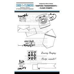 Tampons transparents Chou & Flowers - Mon Petit Mot - Amitié