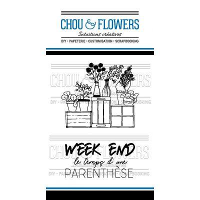 Tampons transparents Chou & Flowers - Mon Petit Côté - Week-end