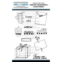 Tampons transparents Chou & Flowers - Mon Petit Mot - Invitation