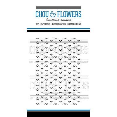 Tampons transparents Chou & Flowers - Mon Petit Côté - Fleur bleue Fond