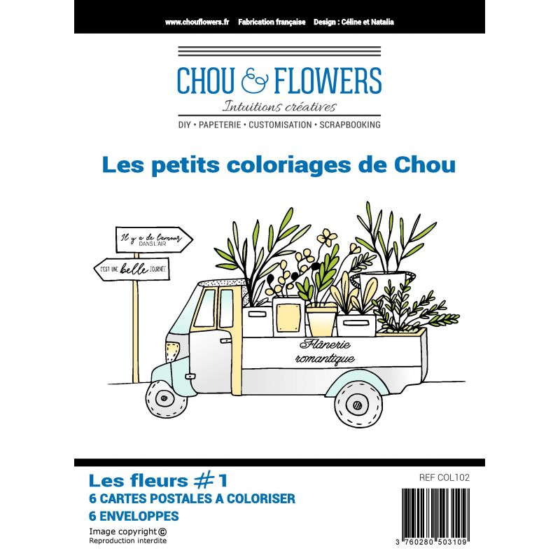 Les petits coloriages de Chou - Les fleurs 1