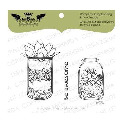 Tampons transparent Lesia Zgharda - Florarium in a jar