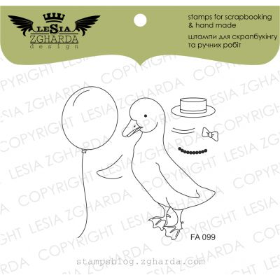 Tampons transparent Lesia Zgharda - Duck Transformer Mr