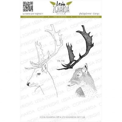 Tampons transparent Lesia Zgharda - Deer