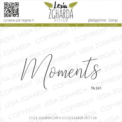 Tampon transparent Lesia Zgharda - Moments