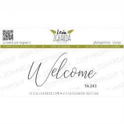 Tampon transparent Lesia Zgharda - Welcome