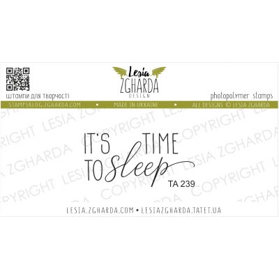 Tampon transparent Lesia Zgharda - It's Time to Sleep